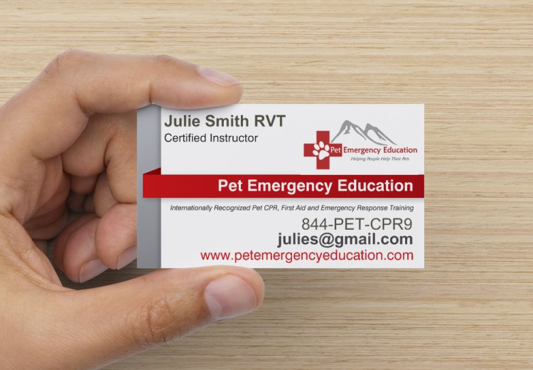 Business Cards Pet Emergency Education